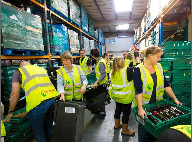 The Grocer team gets stuck in at FareShare
